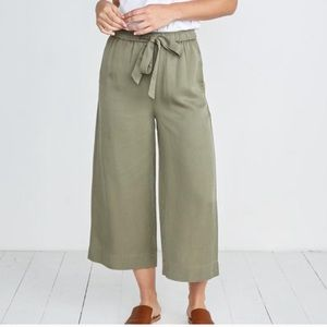 Marine Layer Wide Leg Pull on Pants Chambray Green